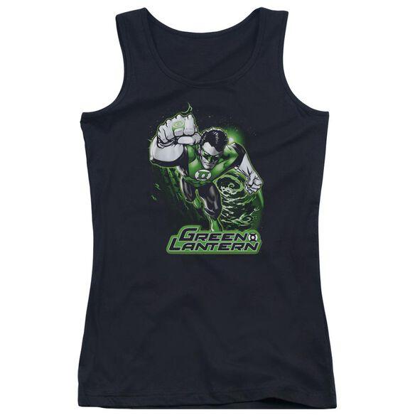 Jla Green Lantern Green & Gray Juniors Tank Top