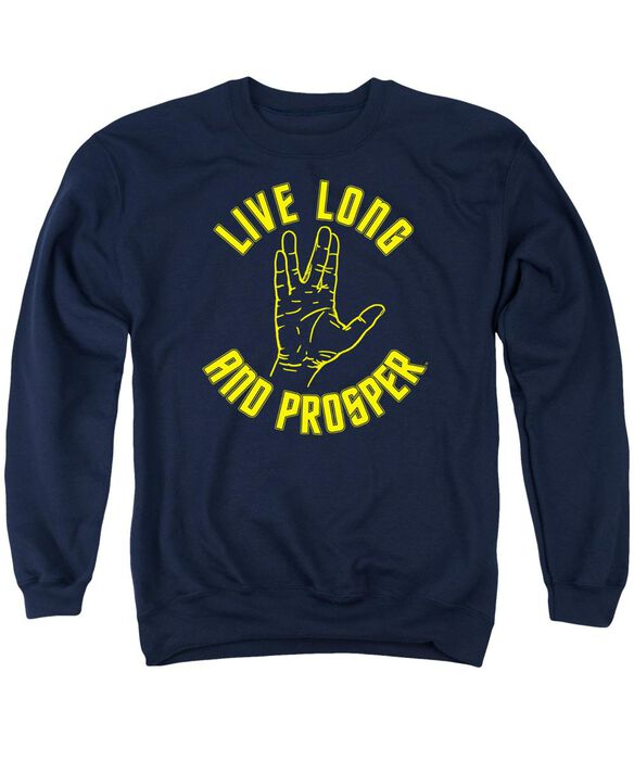 Star Trek Live Long Hand Adult Crewneck Sweatshirt