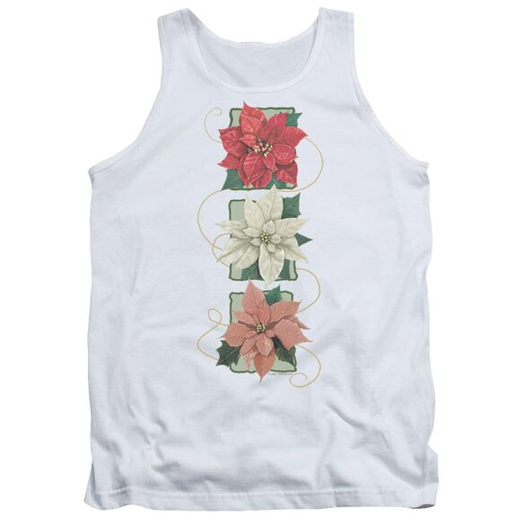 Poinsettias - Adult Tank - White