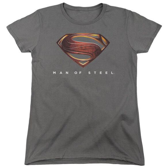 Man Of Steel Mos New Logo Short Sleeve Women's Tee T-Shirt