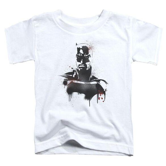 Batman V Superman Batman Spray Short Sleeve Toddler Tee White T-Shirt