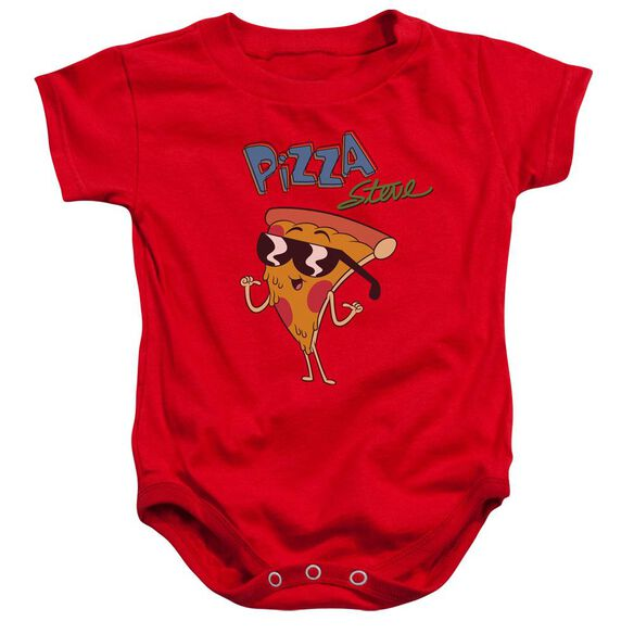 Uncle Grandpa Pizza Steve Infant Snapsuit Red