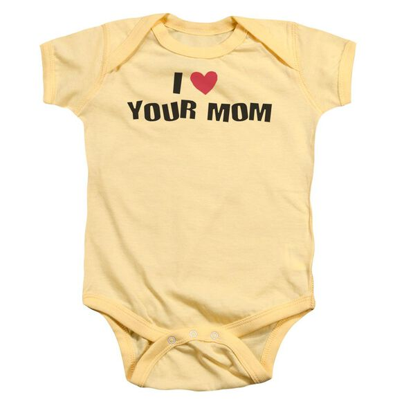 I Love Your Mom Infant Snapsuit Banana Sm