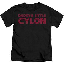 Bsg Daddy's Little Cylon Short Sleeve Juvenile Black Md T-Shirt