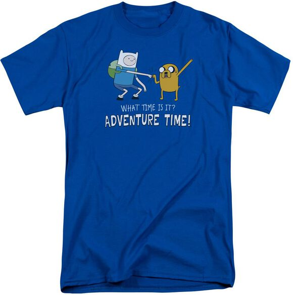 Adventure Time Fist Bump Short Sleeve Adult Tall Royal T-Shirt