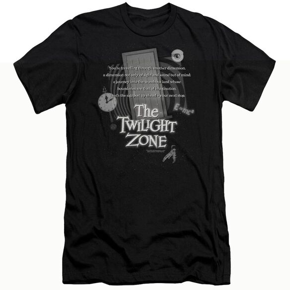 TWILIGHT ZONE MONOLOGUE - S/S ADULT 30/1 - BLACK T-Shirt