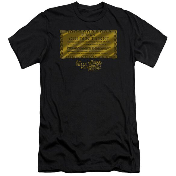 Willy Wonka And The Chocolate Factory Golden Ticket Hbo Short Sleeve Adult T-Shirt