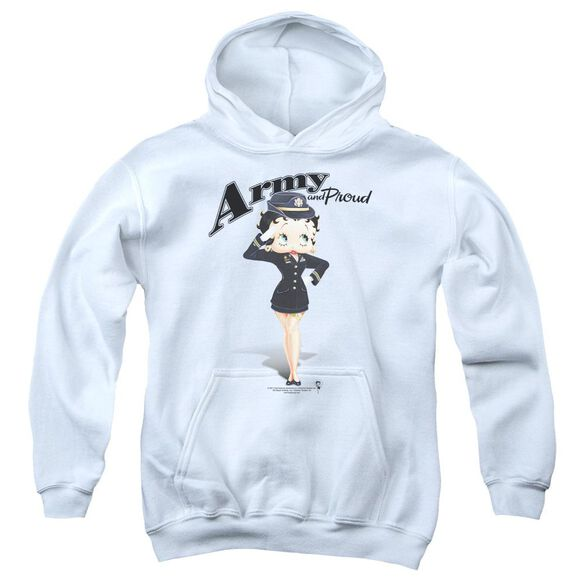 Betty Boop Army Boop Youth Pull Over Hoodie