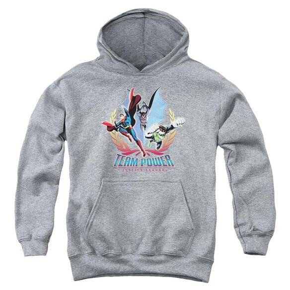 Jla Team Power Youth Pull Over Hoodie