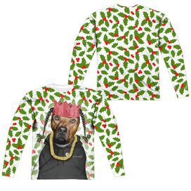 Pets Rock Rapping Paper (Front Back Print) Long Sleeve Adult Poly Crew T-Shirt