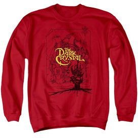 Dark Crystal Poster Lines Adult Crewneck Sweatshirt