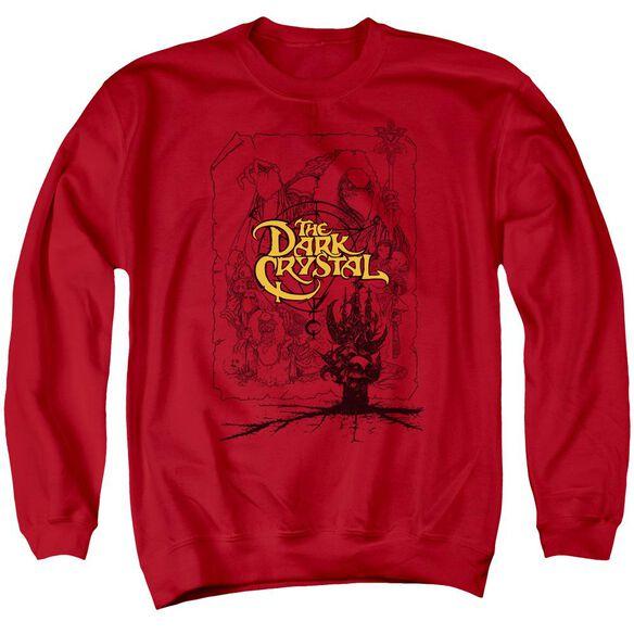 Dark Crystal Poster Lines Adult Crewneck Sweatshirt