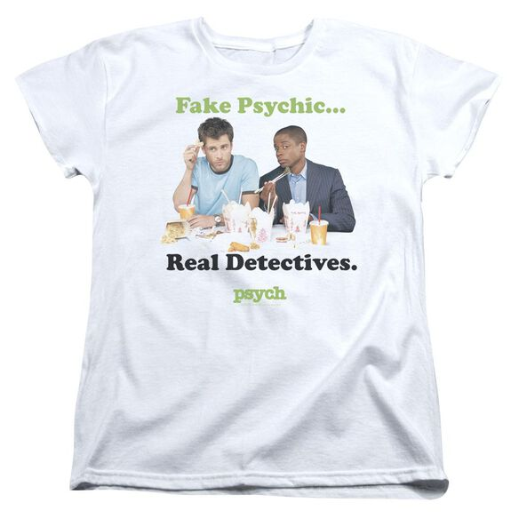 Psych Take Out Short Sleeve Womens Tee T-Shirt