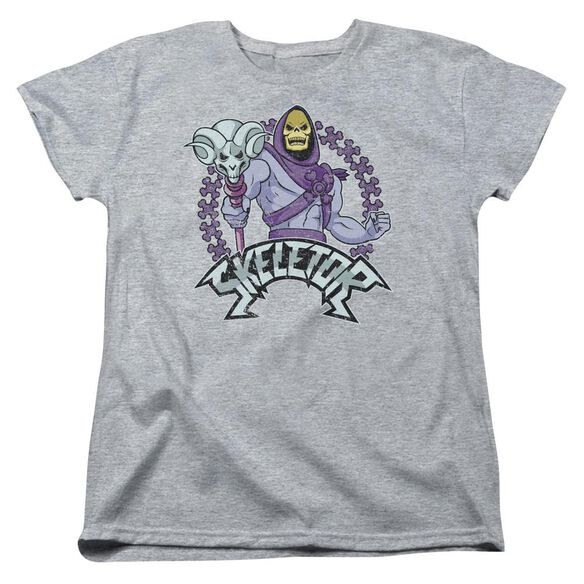 Masters Of The Universe Skeletor Short Sleeve Womens Tee Athletic T-Shirt