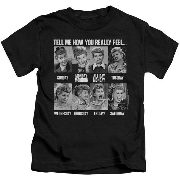 I Love Lucy 8 Days A Week Short Sleeve Juvenile T-Shirt