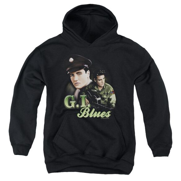 Elvis G I Blues Youth Pull Over Hoodie