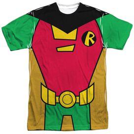 Teen Titans Go Robin Uniform Short Sleeve Adult Poly Crew T-Shirt