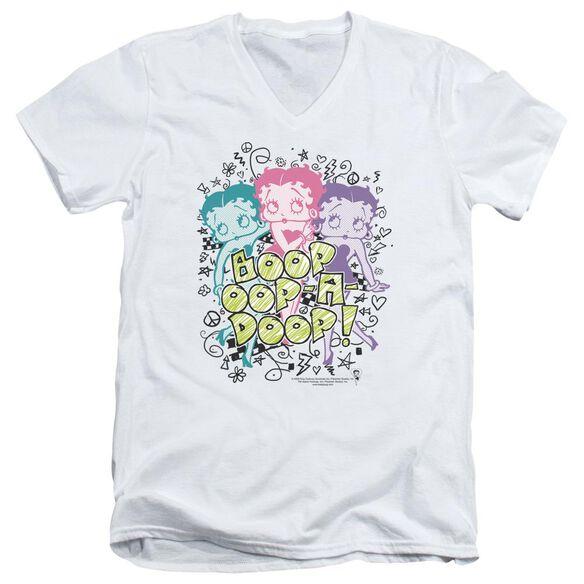 Betty Boop Sketch Short Sleeve Adult V Neck T-Shirt