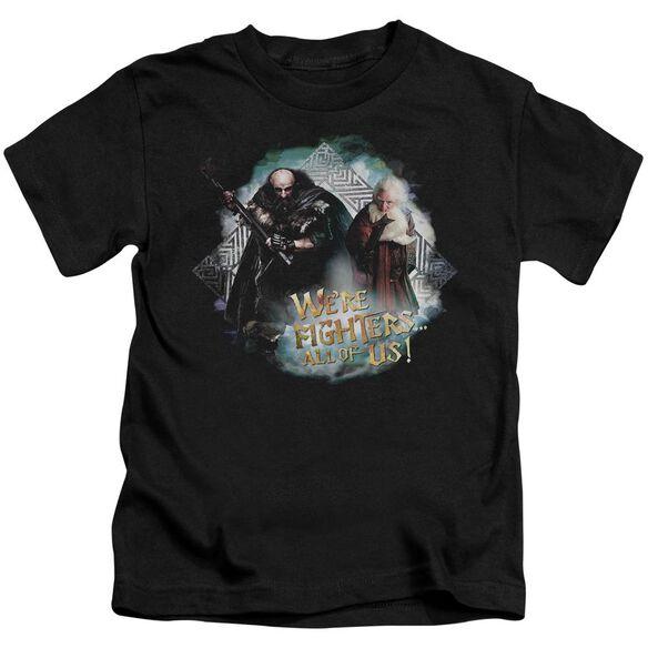 The Hobbit We're Fighers Short Sleeve Juvenile Black Md T-Shirt