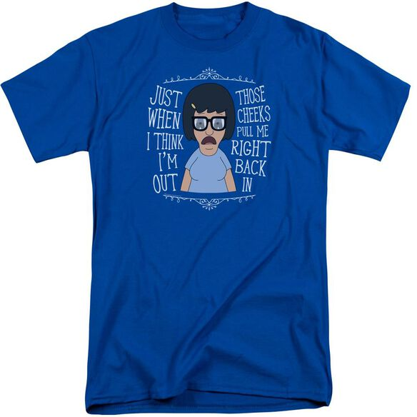 Bobs Burgers Pull Me In Short Sleeve Adult Tall Royal T-Shirt