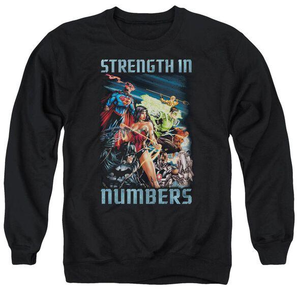 Jla Strength In Number Adult Crewneck Sweatshirt