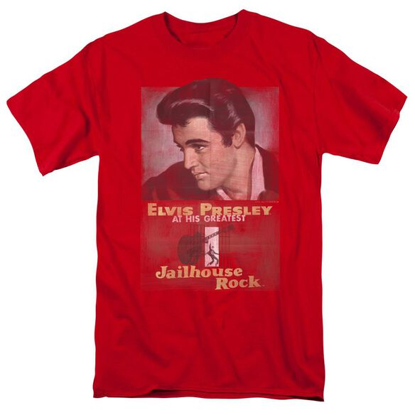 Elvis Jailhouse Rock Poster Short Sleeve Adult T-Shirt