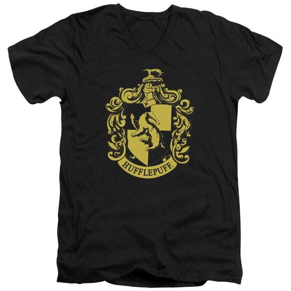 Harry Potter Hufflepuff Crest Short Sleeve Adult V Neck T-Shirt