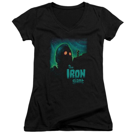 Iron Giant Look To The Stars Junior V Neck T-Shirt