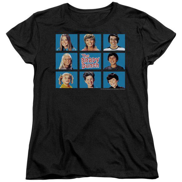 Brady Bunch Framed Short Sleeve Womens Tee T-Shirt