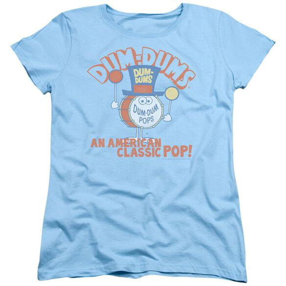 Dum Dums Classic Pop Short Sleeve Womens Tee Light T-Shirt
