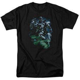 GREEN LANTERN BLACK LANTERN BATMAN-S/S ADULT 18/1 - BLACK T-Shirt