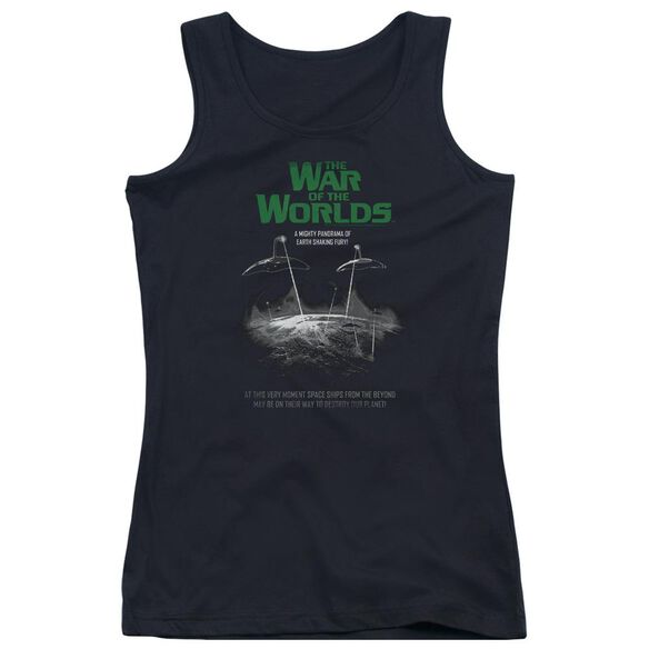 War Of The Worlds Attack Poster Juniors Tank Top