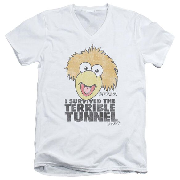 Fraggle Rock Terrible Tunnel Short Sleeve Adult V Neck T-Shirt