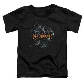 Def Leppard Broken Glass Short Sleeve Toddler Tee Black T-Shirt