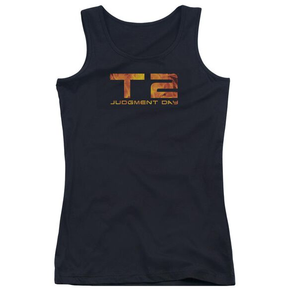 Terminator 2 Fire Logo Juniors Tank Top