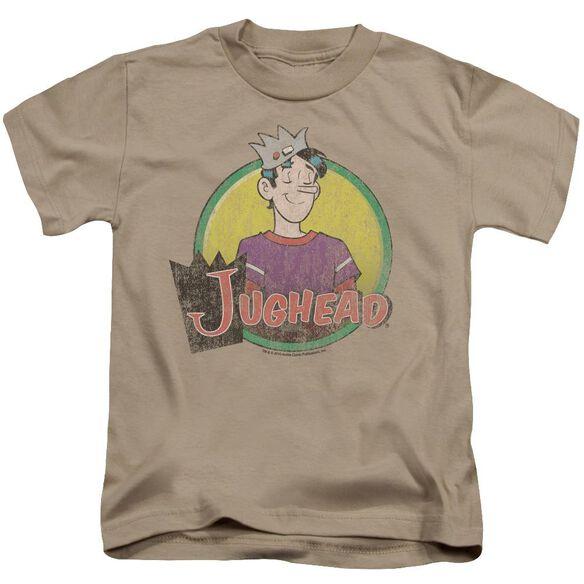Archie Comics Jughead Distressed Short Sleeve Juvenile Sand T-Shirt