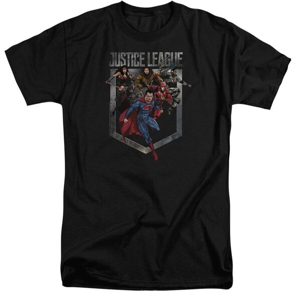 Justice League Movie Charge Short Sleeve Adult Tall T-Shirt