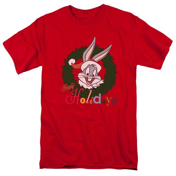 Looney Tunes Holiday Bunny Short Sleeve Adult T-Shirt