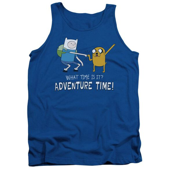 Adventure Time Fist Bump Adult Tank Royal