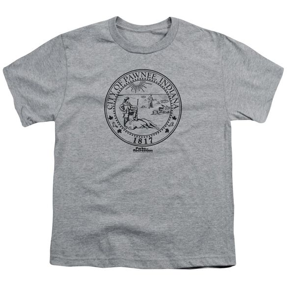 Parks And Rec Pawnee Seal Short Sleeve Youth Athletic T-Shirt