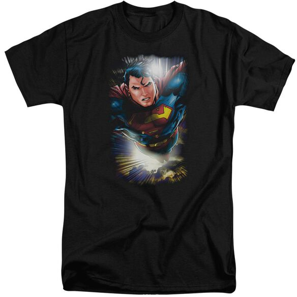 Superman In The Sky Short Sleeve Adult Tall T-Shirt