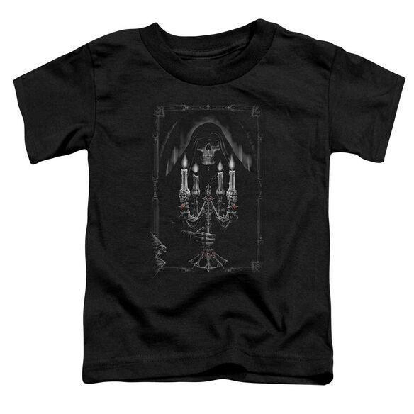 Anne Stokes Candelabra Short Sleeve Toddler Tee Black T-Shirt