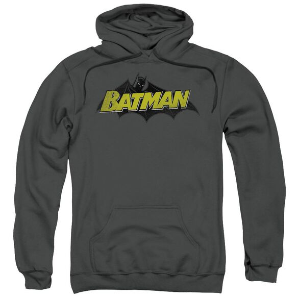 Batman Classic Comic Logo Adult Pull Over Hoodie