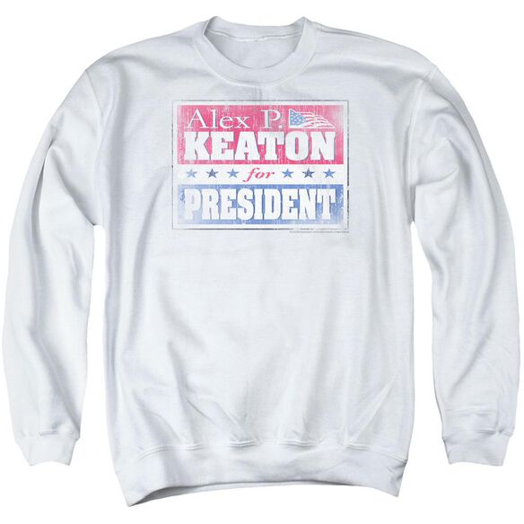 Family Ties Alex For President Adult Crewneck Sweatshirt