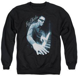 Ray Charles Blues Piano Adult Crewneck Sweatshirt