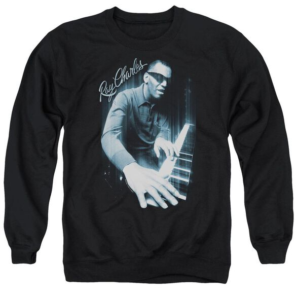 Ray Charles Blues Piano Adult Crewneck Sweatshirt