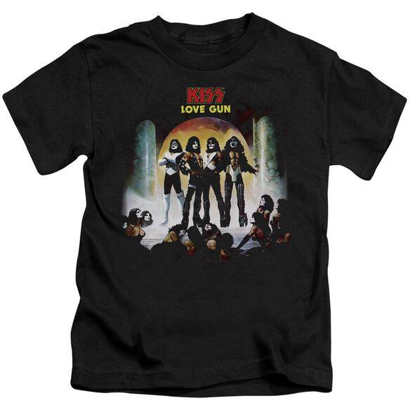 Kiss Lover Gun Cover Short Sleeve Juvenile T-Shirt
