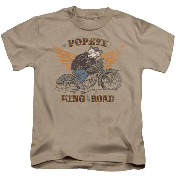 Popeye King Of The Road Short Sleeve Juvenile Sand Md T-Shirt