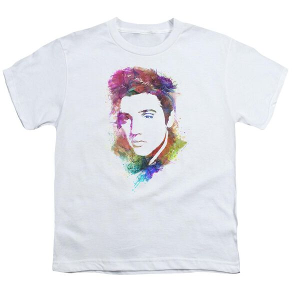 Elvis Watercolor King Short Sleeve Youth T-Shirt