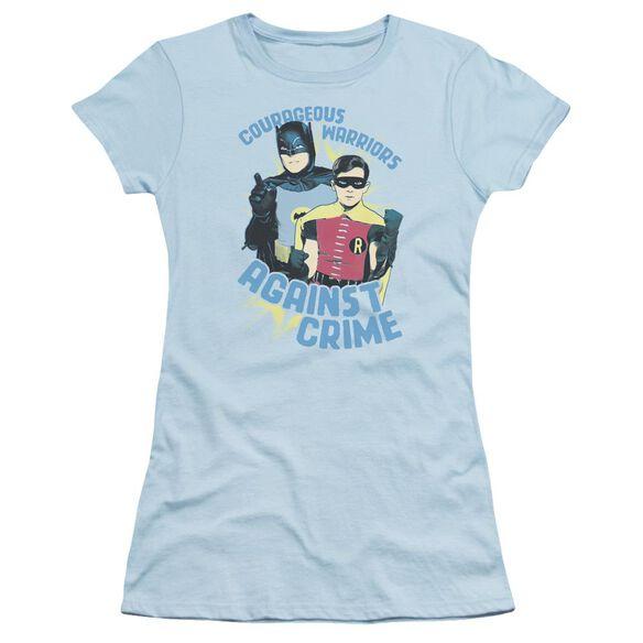 Batman Classic Tv Courageous Warriors Short Sleeve Junior Sheer Light T-Shirt